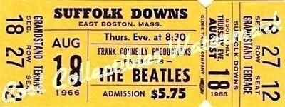 Beatles 1966 Ticket Concert Suffolk Downs LOA COA MT VTG Authentic Original YL