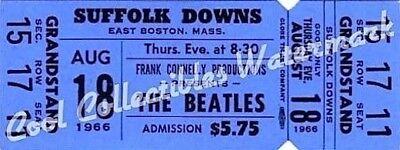 Beatles 1966 Ticket Concert Suffolk Downs LOA COA MT VTG Authentic Original BL