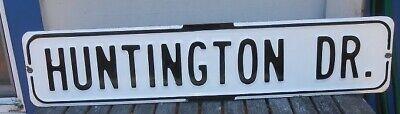 Vintage Porcelain  San Francisco Street Sign Huntington Dr. Beach Park Hotel