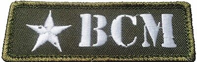 BRAVO COMPANY MFG, INC LOGO PATCH NARROW, COLOR OD WHITE