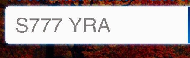 Private Reg* S777YRA * on Retention