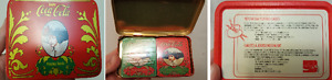 Coca Cola, 2 tins Playing Cards