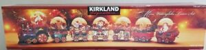 Kirkland Christmas Mini Waterglobe Train Set 90's Vintage