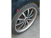 Audi vw 18 inch alloys with good tyres