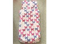 cosey toes - foot muff - fleece liner (Mothercare butterfly design)