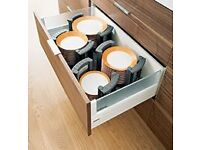 BLUM plate organising for pull out kitchen drawers