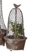 Shabby Cottage Chic Chicken Wire Planter Garden Decor