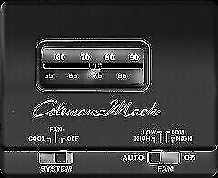 RVP 7330-3861 Coleman Air Conditioner Black Analog Cool Only Thermostat