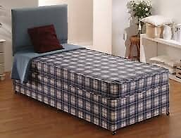 Brand New Single Bed set, Padded Spring in Blue FREE delivery 2 available