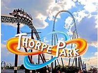 4 FULL ADULD OR CHILD ENTRY THORPE PARK TICKETS !!