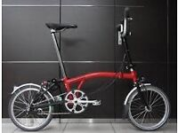 BROMPTON 3 SPEED IN RED