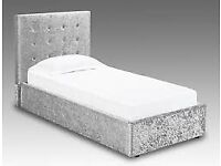 📯Sale End Soon📯Brand New Single Size Crushed Velvet Divan Bed Base With Opt Mattress-