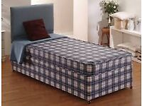 Brand New Comfy Single Bed set, Blue Fabric FREE Delivery 2 Available