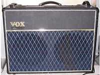 VOX AD120VT Valvetronix stereo 120w RMS amp, with effects etc