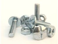 200nr. - M6X25 ROOFING / SPOUTING / GUTTER BOLTS & NUTS