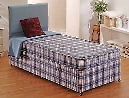 Brand New comfy Single Divan bed set FREE delivery 2 Available