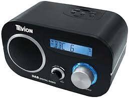 Tevion DAB and FM Clock Radio - black