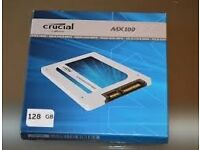 """crucial mx100 128gb SSD hard drive 2.5"""" for laptop or desktop PC's"""