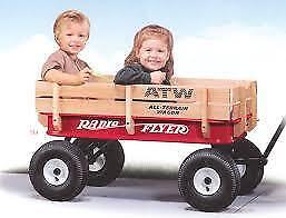 2 seater Wagon atw radio flyer $65 Deluxe Ride Relax All-Terrain Steel & Wood Wagon