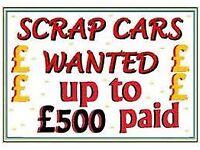 SCRAP NO MOT NON RUNNER MOT FAILURE CARS VANS TRUCKS JEEPS WANTED CASH PAID NO KEY / LOG BOOK SELL
