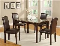 5PCS DINING SET ONLY $249.OO LOWEST PRICES GUARANTEED