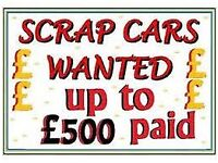 WANTED ALL CARS VANS TRUCKS TIPPER MINI BUS CARAVAN CAMPER PLANT NON RUNNER DAMAGED SCRAP NO MOT