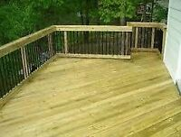 are you looking to have a deck or fence built? maybe even repair