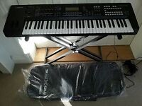 Yamaha MOXF6 - 61 Key Workstation Synthesizer - As new + Headphones + Stand + Bag