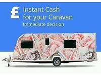 CARAVANS CAMPERS MOTORHOMES ETC WANTED FOR CASH 07954802535