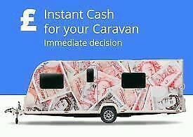 CARAVANS CAMPERS MOTORHOMES ETC WANTED FOR CASH 07954802535