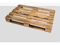 Clean, dry wooden pallets - FREE to collector