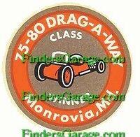 75-80 Dragway M.d. class Winner Sticker