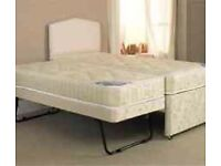 Pull out guest double or single or kids bed with two mattresses n headboard