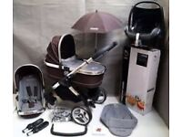 Icandy peach travel system pram & pushchair & car seat full accesories