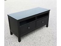IKEA HEMNES TV UNIT BLACK/BROWN