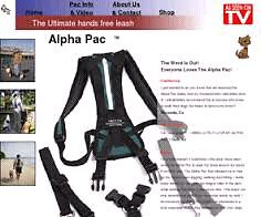 Alpha pac hands free leash system