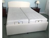 Hardly Used, as good as NEW 5ft Double Bed with Twin Sensapaedic Mattresses