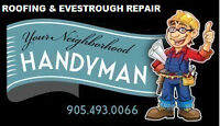 """Eavestrough and Roofing repair """"fully Insured"""""""