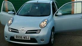NISSAN MICRA 1.2 2006 MOT OCTOBER 2017 AND TAXED DRIVES WELL LOW MILLAGE 35,000 £1099 NEAREST OFFER