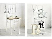 Brand New in Packaging Shabby Chic Style Wall Canvas's Set of 2