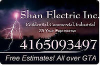 Shan Electric -Reliable  & Experienced FREE QUOTE (416)-509-3497