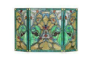 Fireplace Screens - Stained Glass, Brass and Iron | eBay