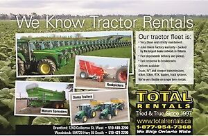 Tractor Rentals- Daily, Weekly, Monthly, Seasonal