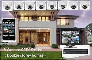 8 HD CCTV security camera package with Mobile monitoring
