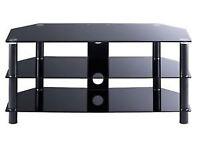 TV-STAND-Black-Glass-104cm-x45cm-x48cm-high-VGC