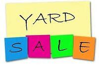 YARD SALE Sunday Sept 3rd, 8am-1pm