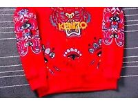 Kenzo eye sweater red