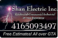 Shan Electric Inc - free quote (416)-509-3497