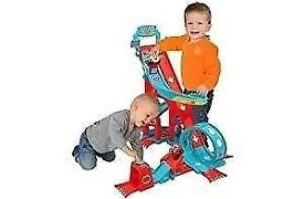 Chad valley mega jump loop track racing cars transport toy elc style