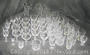 50 Pieces Of Crystal Glassware